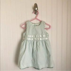 BabyGap Sleeveless Velvet Dress Light Green 12-18